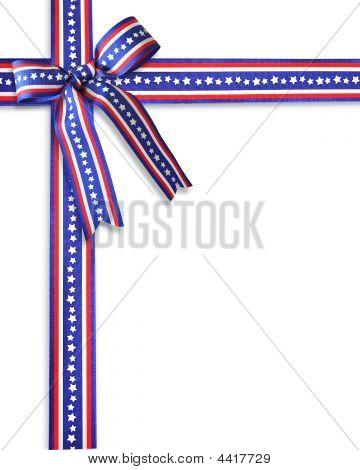 Patriotic Ribbons Border Stars And Stripes