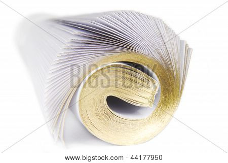 magazine rolled isolated