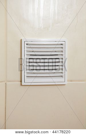 Vent White Bathroom Ventilation Grille