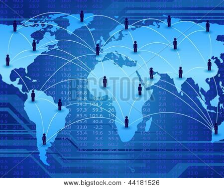 global communication network connecting people worldwide