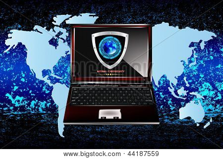 The newest Internet technology.Connection.Cybersecurity