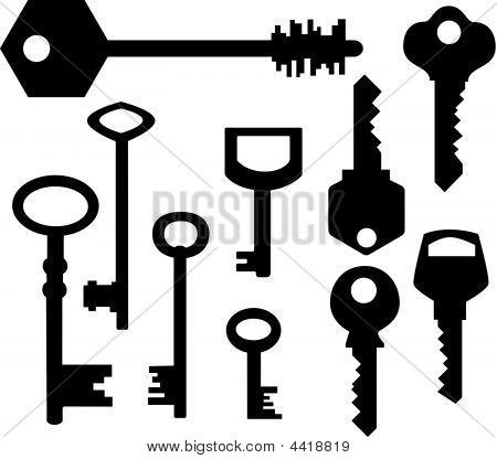 Keys Silhouettes