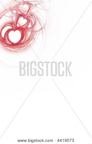 Red Heart Design With White Copy Space