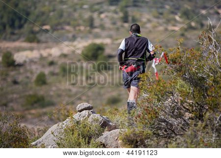 hard marathon mountain race, descent