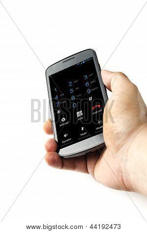 Holding smart phone with dialer