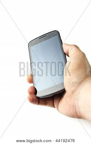 Holding blank screen smart phone