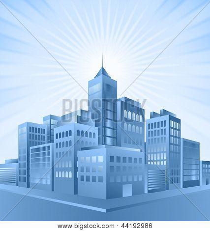 Blue City Sunrise