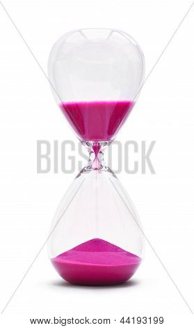 Hour Glass Isolated On White Background