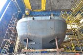 picture of shipbuilding  - Ship building shoot  inside of shipyard - JPG