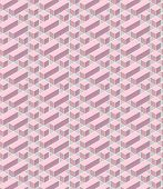 picture of parallelepiped  - pink geometrical pattern with parallelepipeds and squares - JPG