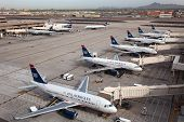 Us Airways Aircraft At Phoenix Sky Harbor Airport