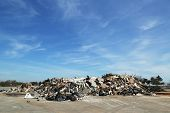 Piles of debris were not removed more than 5 months after Hurricane Sandy in Staten Island