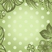 foto of glans  - vector retro floral background - JPG