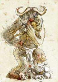 picture of minotaur  - An hand - JPG