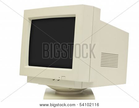 Crt Monitor Side View