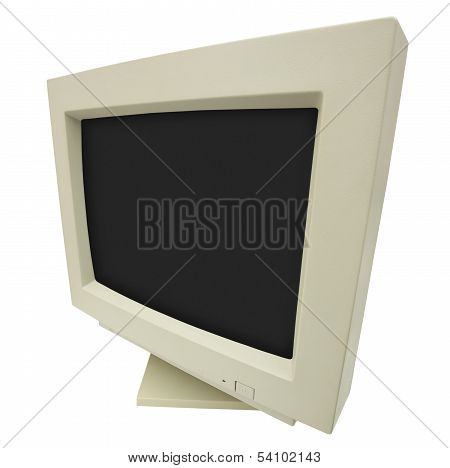 Crt Monitor Side Wide