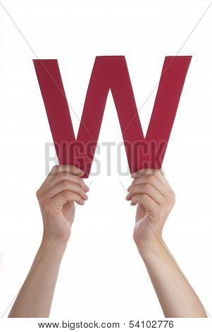 Hands Holding A W