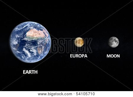 Europa The Moon And Earth