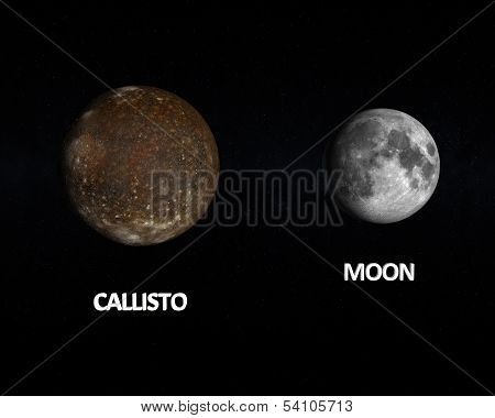 Callisto And The Moon