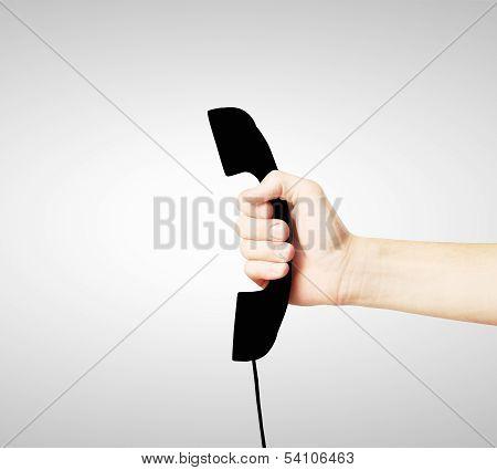 Black Handset