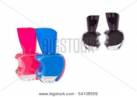 Four Nail Polish Bottles