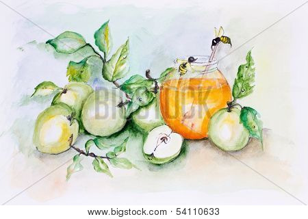 Honey Bees And Apples