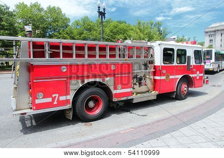 Fire Truck In The Usa