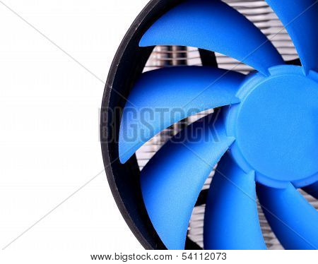 Powerful computer cooler with blue fun
