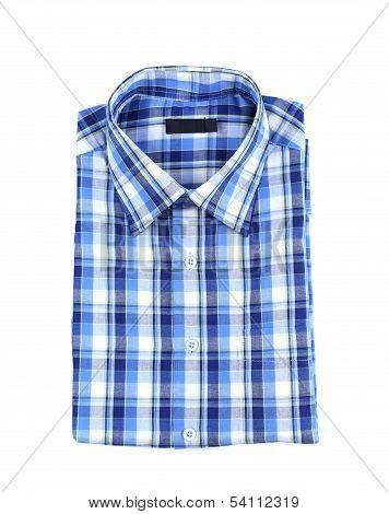 A plaid shirt isolated