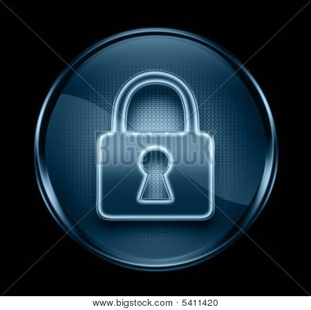 Lock Icon Dark Blue