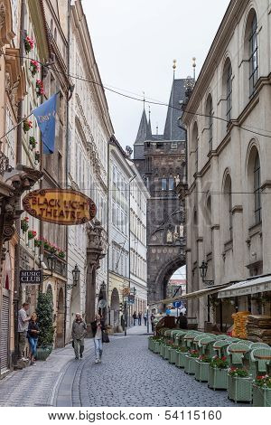 Karlova Street In Prague