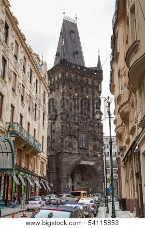 Powder Tower In Prague.