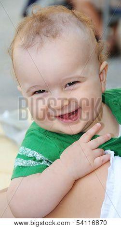 Redhead Baby Boy Smiling