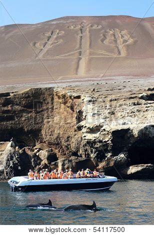 Under Candelabrum In Paracas National Park, Peru