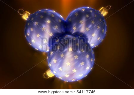 Christmas Balls with Light Effect