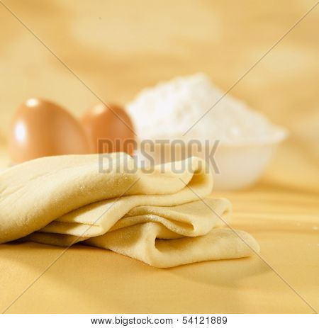 Phyllo Pastry Dough, Eggs And Flour