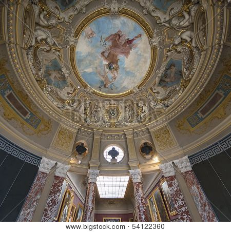 Chateau de Chantilly, France, interiors and details
