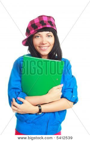 Student With A Folder