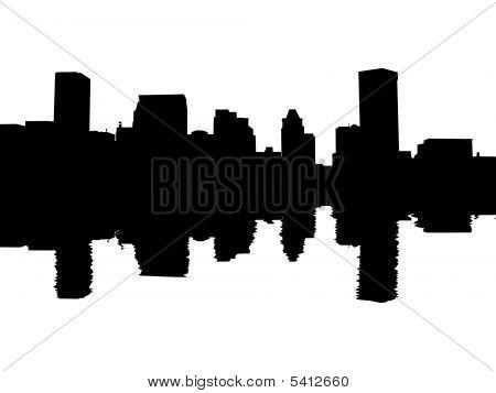 Baltimore Skyline Reflected