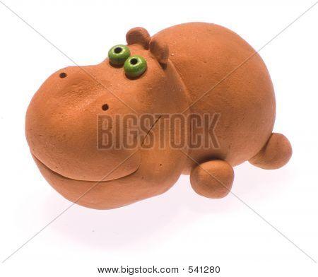 Clay Hippopotamus
