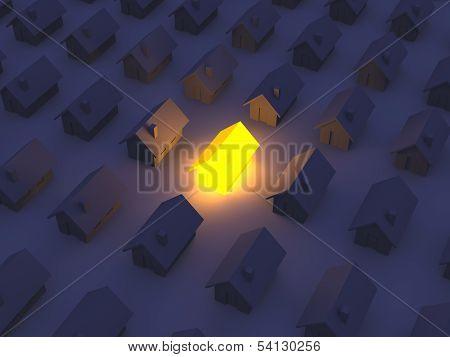 Illuminated Toy house