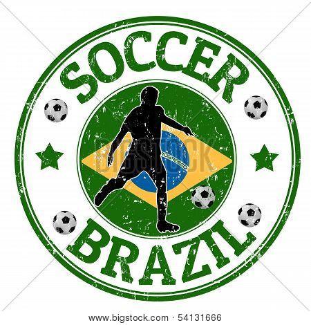 Brazil Soccer Stamp