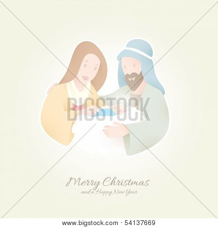 Birth of Christ | Jesus held by Maria and Joseph | Peaceful Christmas Background