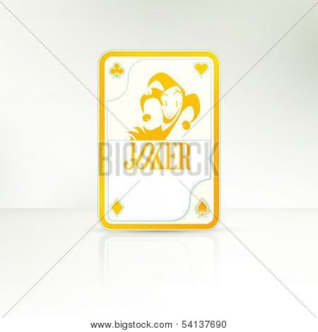 The lucky hand | Joker Playing Card