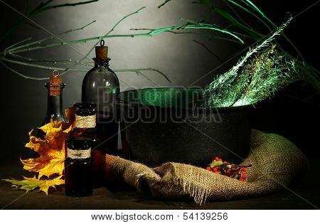 Scary Halloween laboratory
