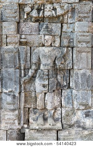 Boddhisattva Image In Candi Sewu Buddhist Complex, Java, Indonesia