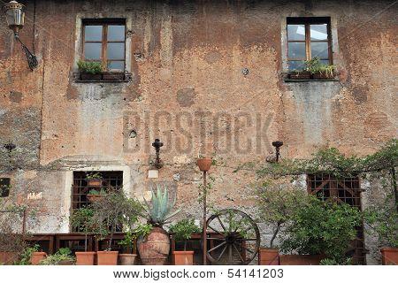 Old Building In Trastevere, Rome