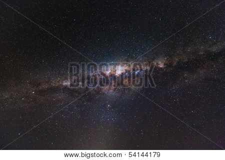Milky Way shining bright at night