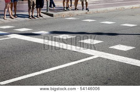 people at the crossroads on a sunny day