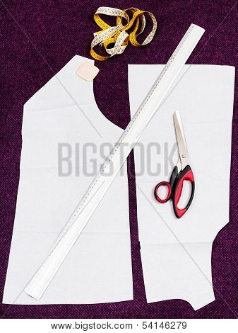 Tailor Instruments And Pattern Cutting Of Dress
